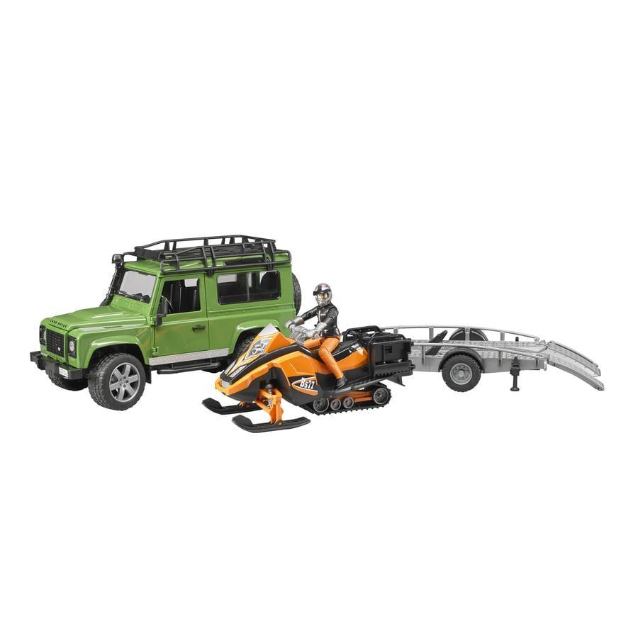 BRUDER® Land Rover Defender Station Terrängbil med släp 02594