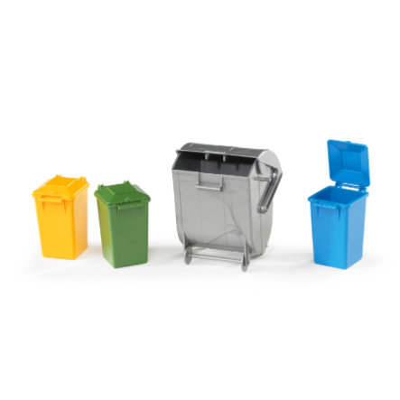 BRUDER® 4 vuilcontainers 02607