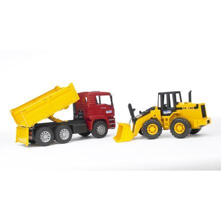 Bruder® MAN TGA Tipplastebil med hjullaster FR130 02752