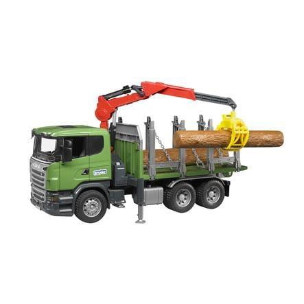 BRUDER® Nákladní auto Scania na přepravu dřeva 03524