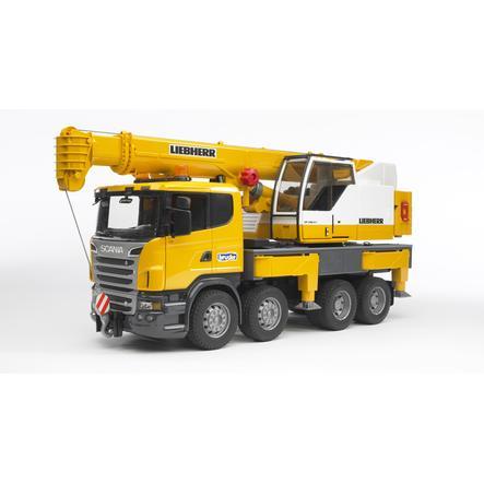 BRUDER® Camion Scania R-Série, grue Liebherr 03570