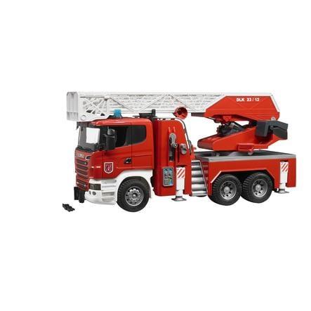 BRUDER® Nákladní hasičské auto SCANIA - požární žebřík 03590