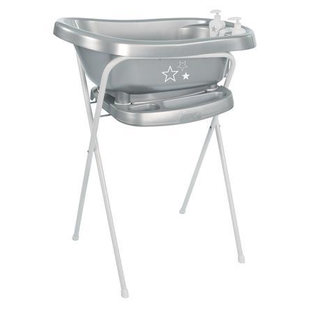 def0abfd509 bébé-jou® Badstandaard Click Silver Stars 103 cm in zilver | pinkorblue.nl