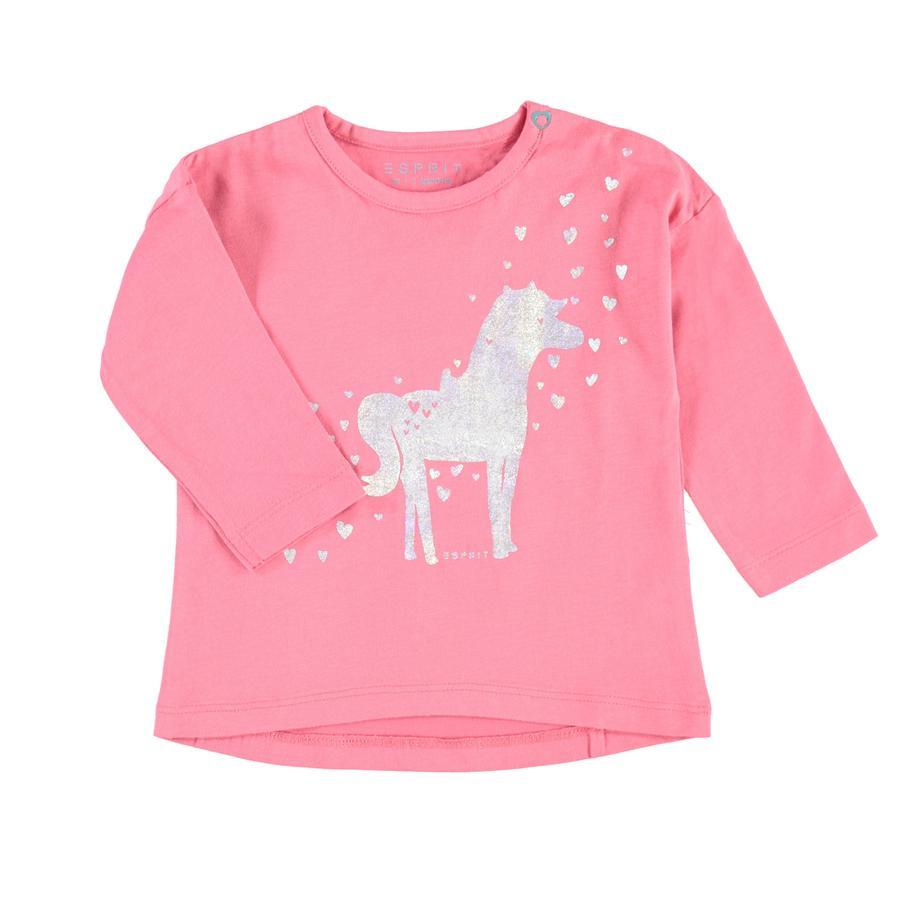 ESPRIT Girl s camisa de manga larga rosa