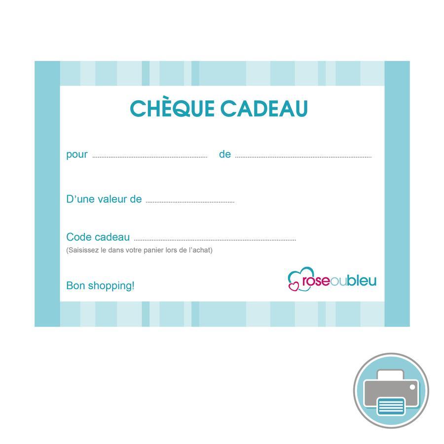 Chèque-cadeau (à imprimer) bleu