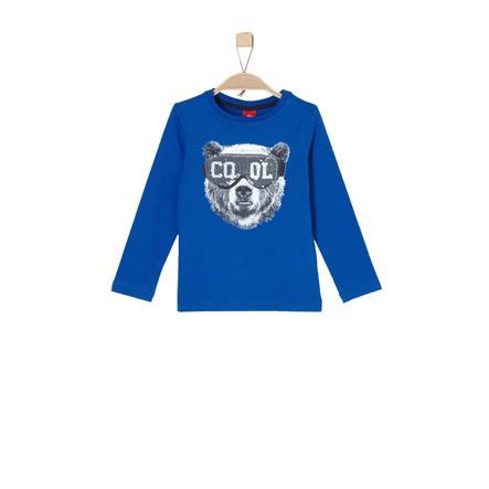 s.Oliver Boys Chemise manches longues bleu