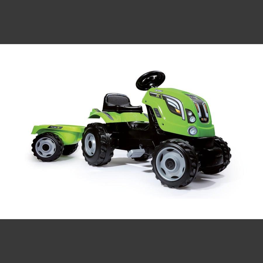 SMOBY Tracteur Farmer XL, remorque, vert