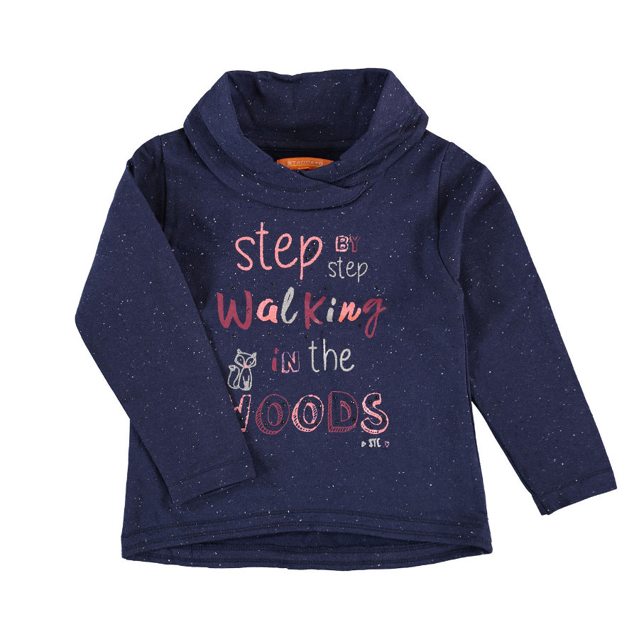 STACCATO Girls Sweatshirt deep blue-neppy