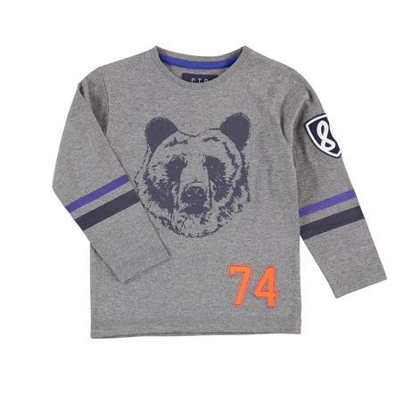 STACCATO Boys Shirt met lange mouwen steen grijs