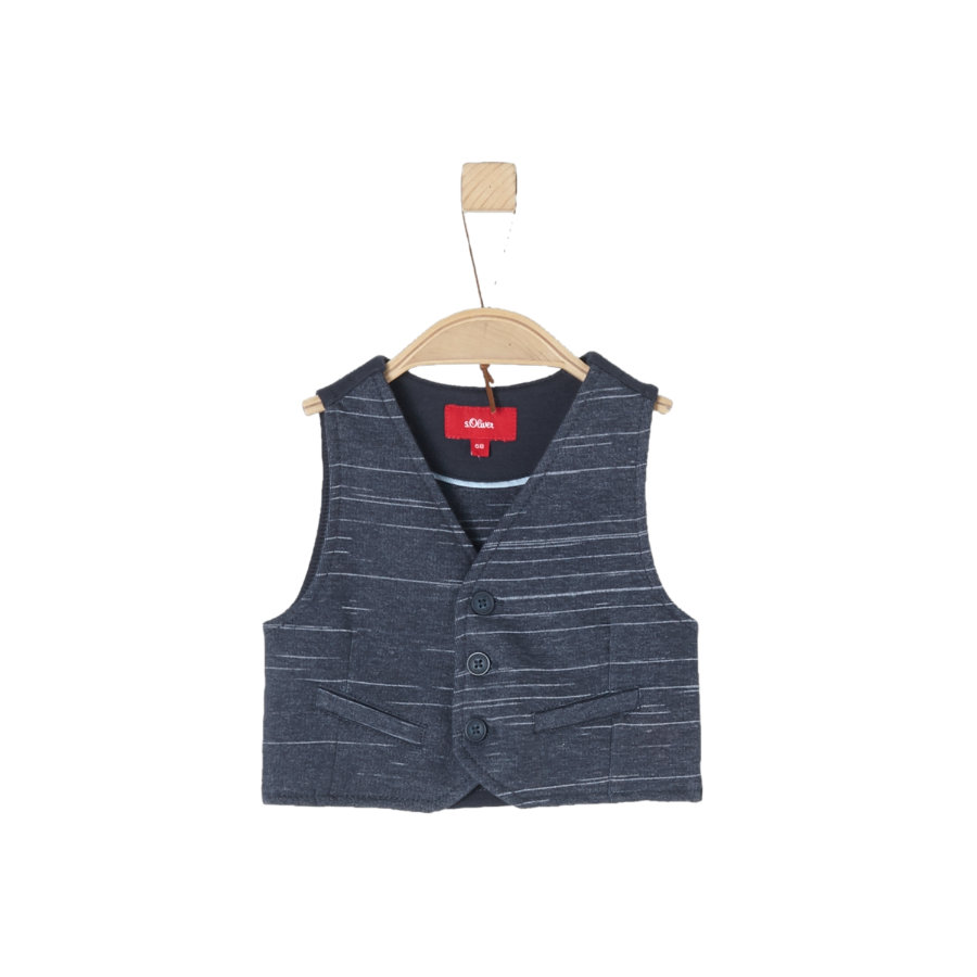 s.Oliver Boys Vest blauw melange