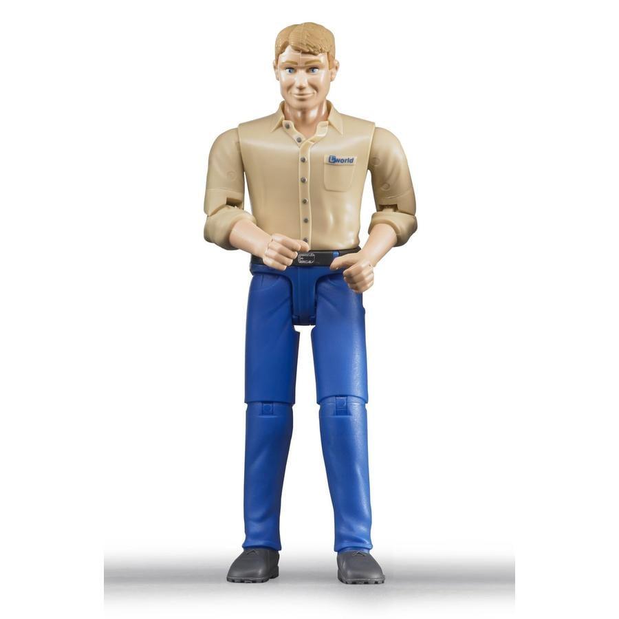 BRUDER® Lisätarvikkeet Vaalea mies, siniset housut
