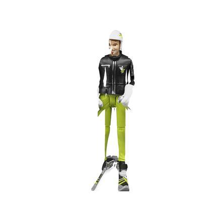 BRUDER® Accessoires - Skiër met toebehoren