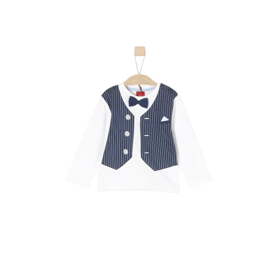s.Oliver Boys Chemise manches longues blanc