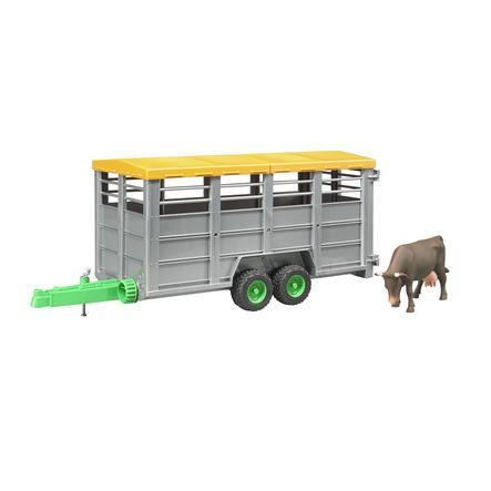 bruder® Veetransport-aanhanger met 1 koe 02227