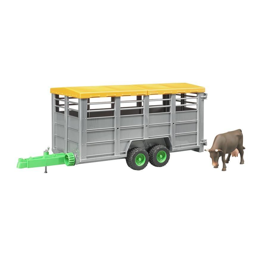 bruder® Přívěs na hospodářská zvířata velký + kráva 02227