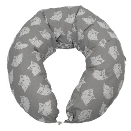 HOBEA Coussin d'allaitement chouettes gris triangles