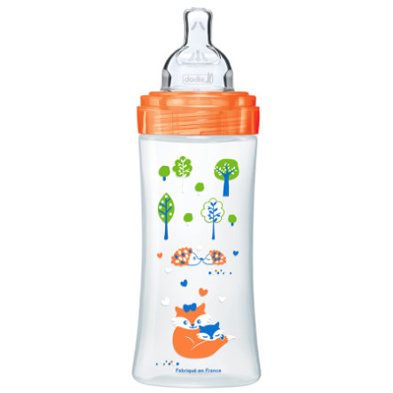 dodie Biberon Sensation+ sans BPA Orange Forêt débit 3 330 ml