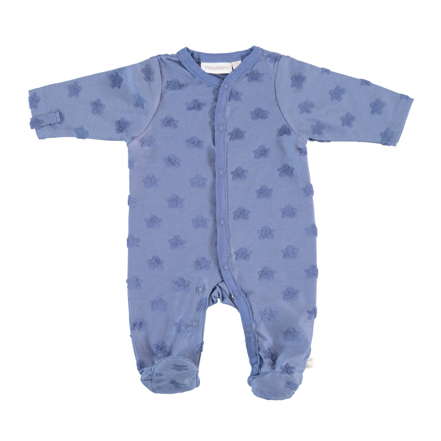 noukie's Pyjamas 1-delade blå stjärnor