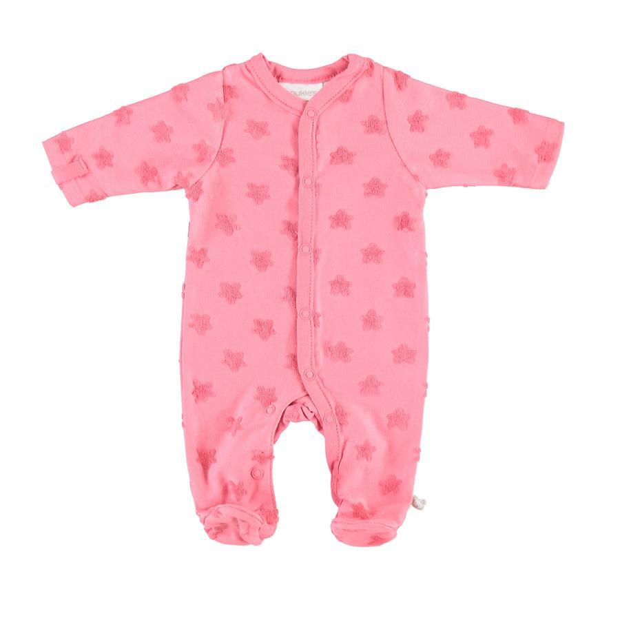 piżamy noukie Girl 's 1-częściowe różowe gwiazdy