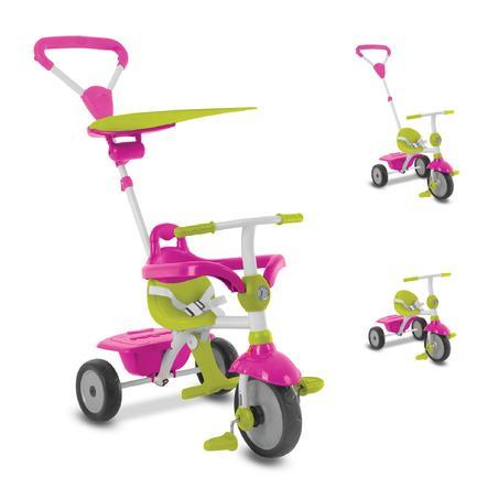 smarTrike® Zip Plus tříkolka 3 v 1 růžovo-zelená