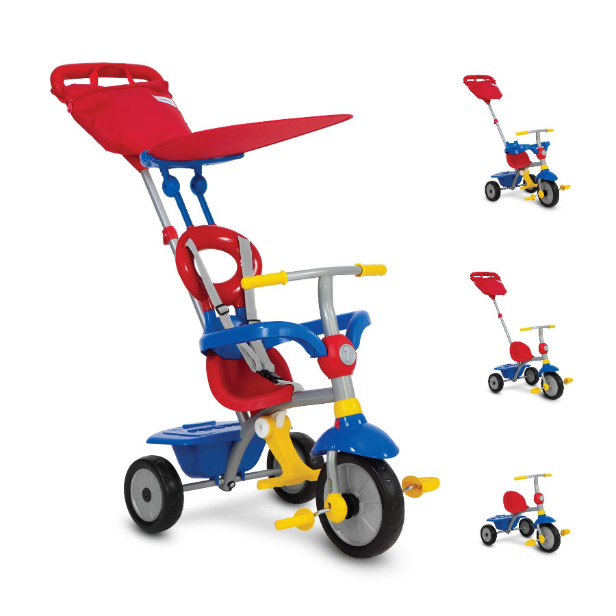 smarTrike® Zip Plus 4 in 1 Dreirad blau-rot