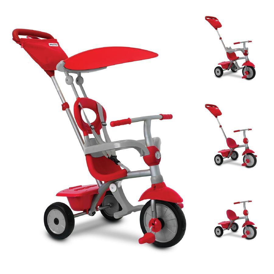 smarTrike® tříkolka Zip Plus 4 v 1 červeno - šedá