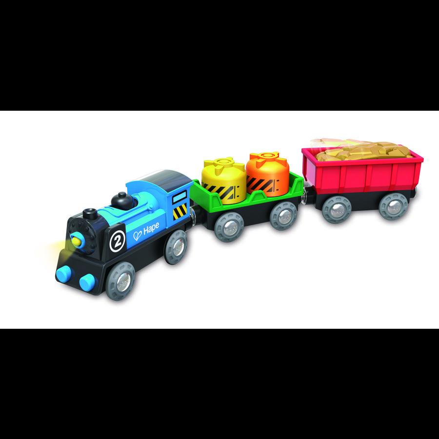 Hape Train de marchandises à piles bois E3720