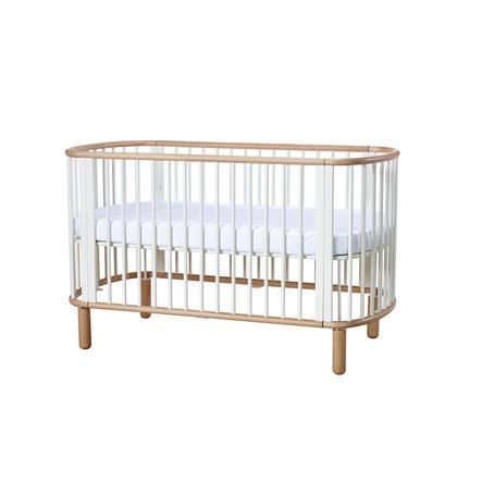 flexa babybett baby wei natur inkl matratze. Black Bedroom Furniture Sets. Home Design Ideas