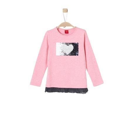 s.Oliver Långärmad tröja pink melange