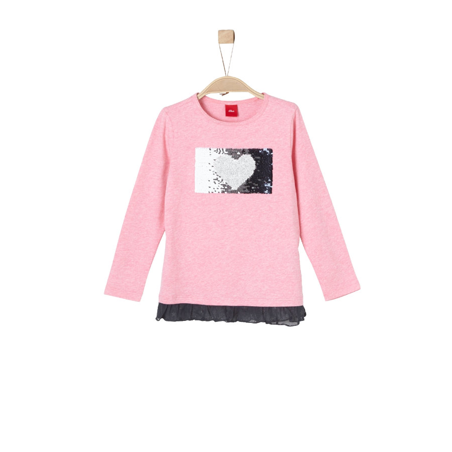 s.Oliver Girl s koszula z długim rękawem różowy melange