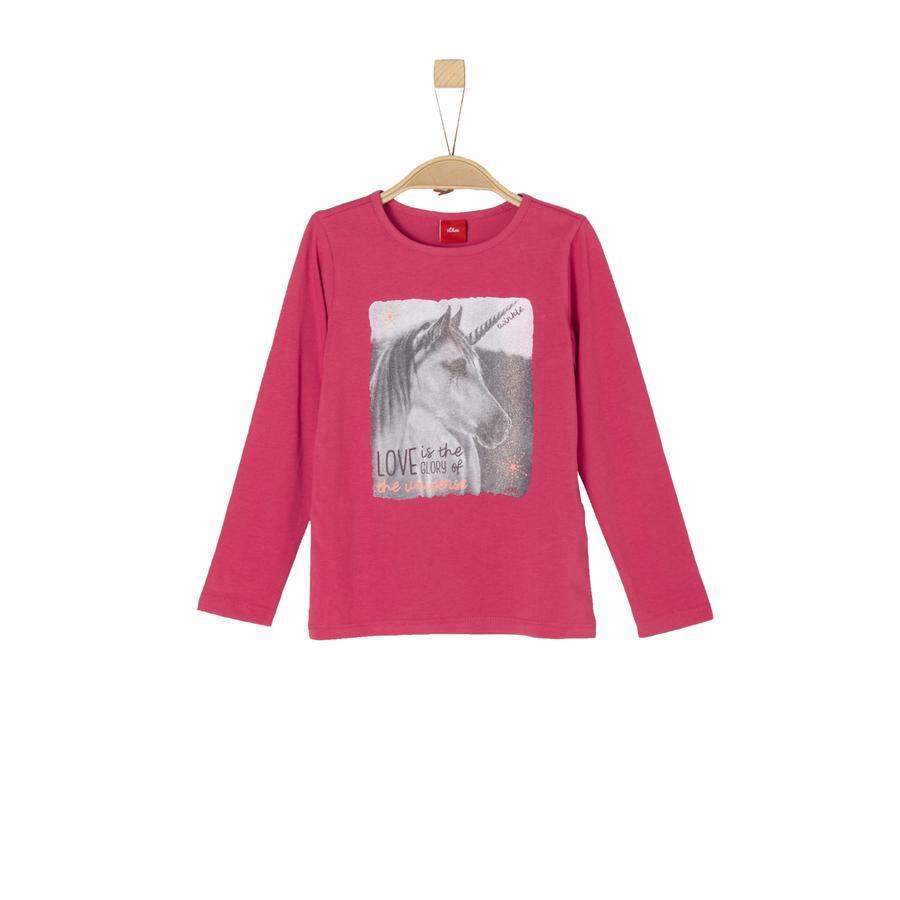 s.Oliver Girl s camisa de manga larga rosa oscuro
