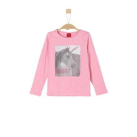 s.Oliver Girl s shirt met lange mouwen roze melange