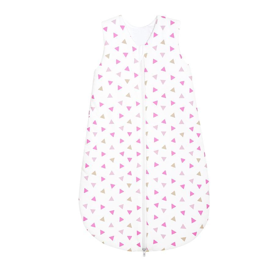 odenwälder Schlafsack Jersey Dreiecke pink 70 - 110 cm