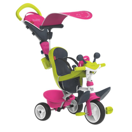 Smoby Tricycle évolutif enfant Driver confort rose