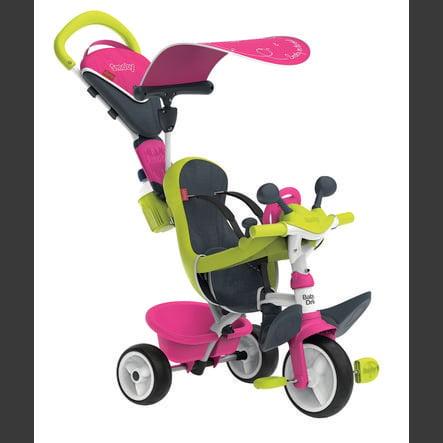 Smoby tříkolka Baby Driver Comfort růžová