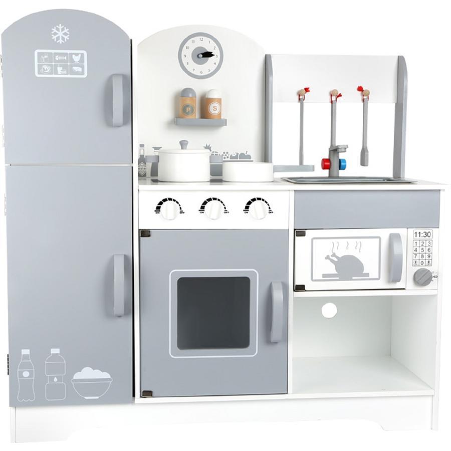 small foot design® Dětská kuchyňka s lednicí šedá