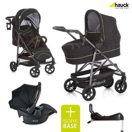 hauck Trio Rapid 4 S Plus Caviar/neon yellow