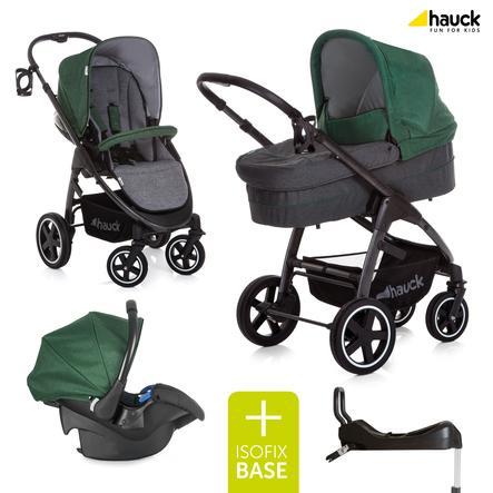 hauck Poussette Trio Soul Plus Emerald, base Isofix Comfortfix