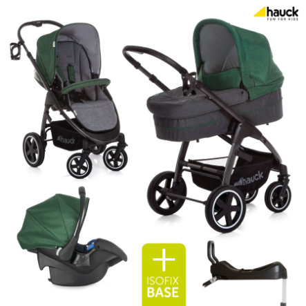 hauck Soul Plus Passeggino Trio inclusa base Isofix Melange Navy