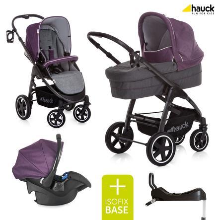 hauck Soul Plus Trioset Berry inklusiv Isofix Base Comfortfix