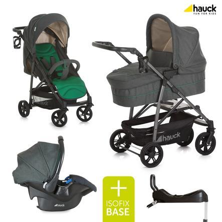 hauck Trio Rapid 4 S Plus Caviar/smeraldo inclusa base Isofix Comfortfix
