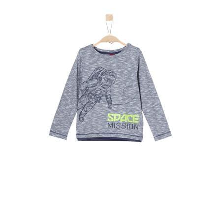 s.Oliver Boys Shirt met lange mouwen donkerblauw melange