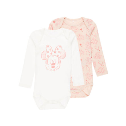 name it Girls Langarm-Body 2er-Pack Minnie peachy keen