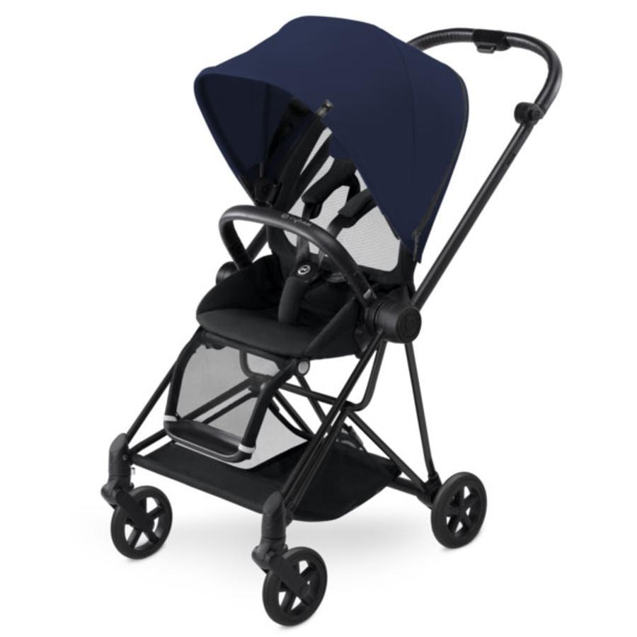 cybex PLATINUM Kinderwagen Mios Matt Black inklusive Color Pack Midnight Blue