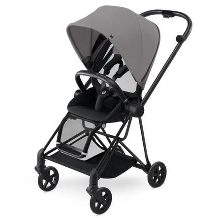 cybex PLATINUM Kinderwagen Mios Matt Black inklusive Color Pack Manhattan Grey