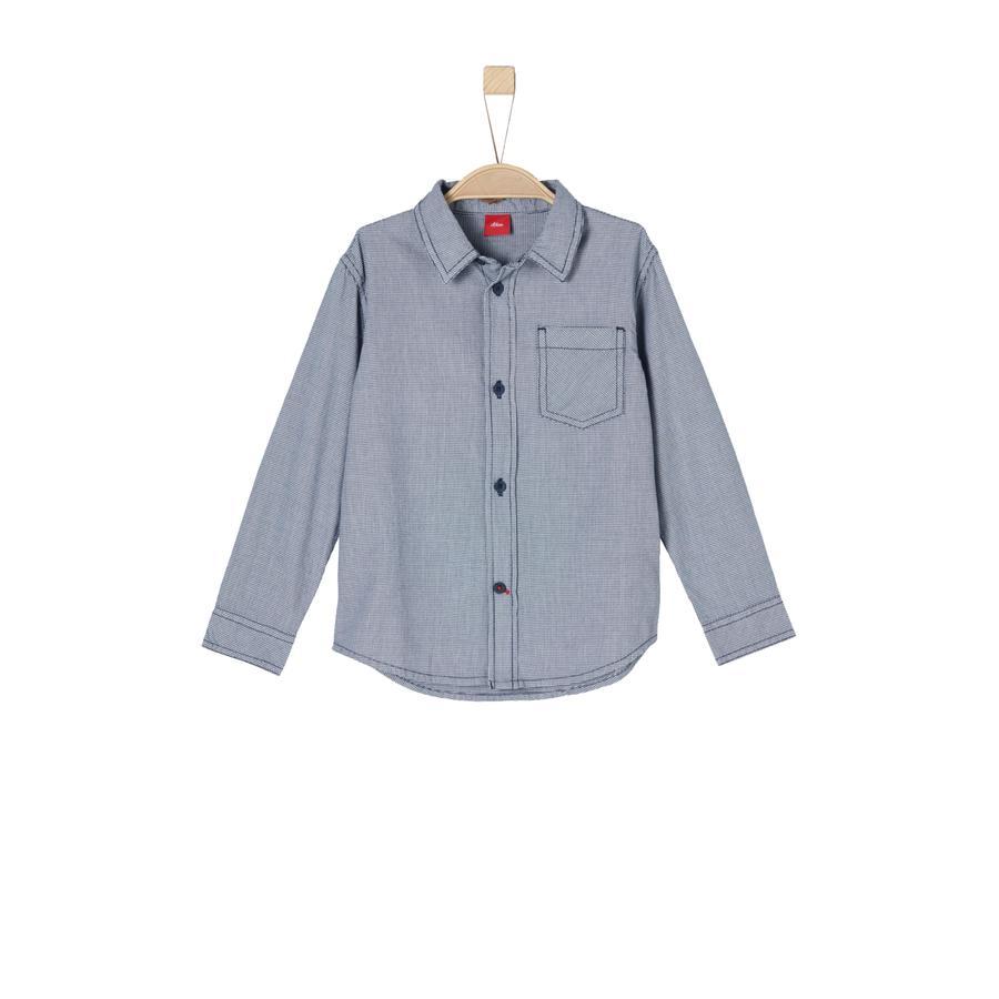 s.Oliver Boys Overhemd donkerblauw geruit