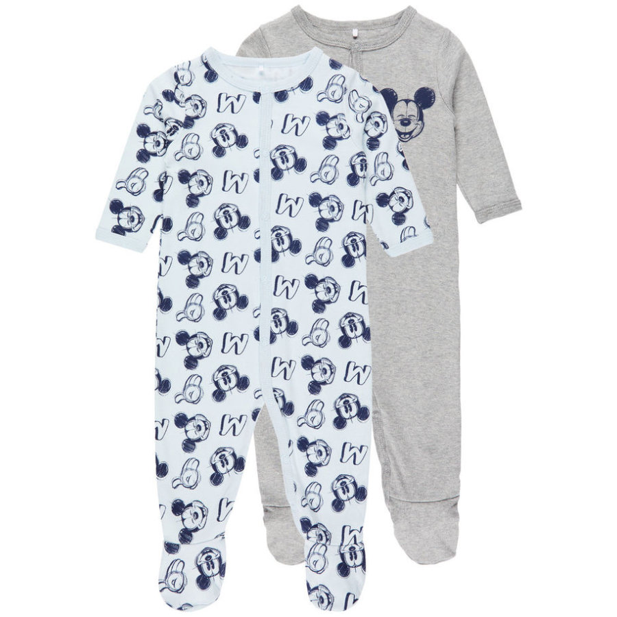 name it Boys Schlafanzug 2er-Pack Mickey baby blue