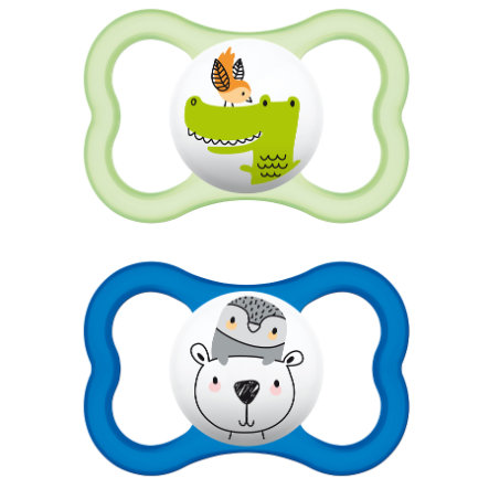 MAM AIR Latex Pacifier / Dummy 6-16 Months for Boys