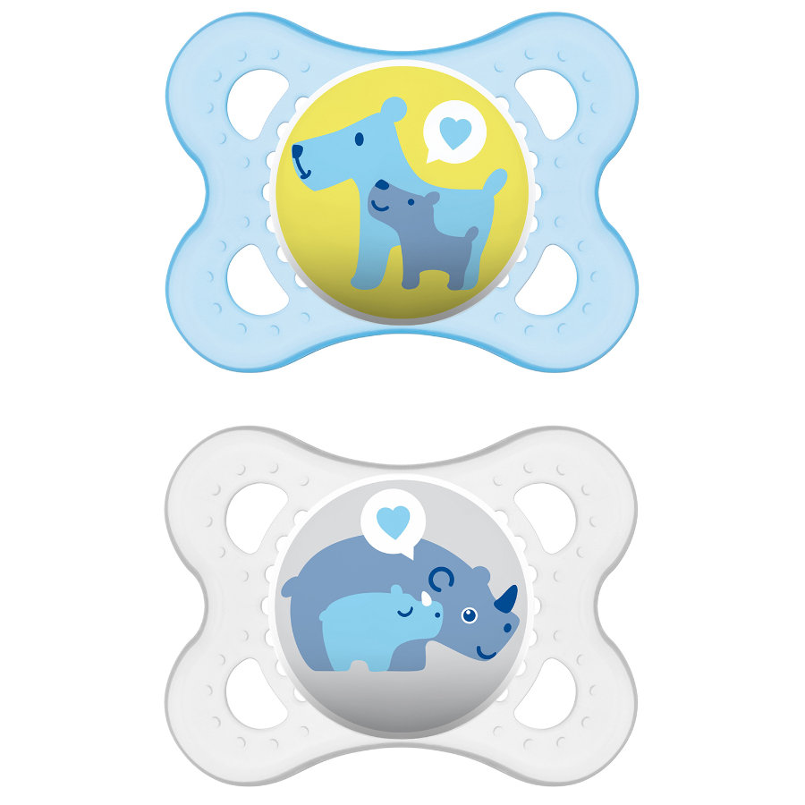 MAM Mini Ulti Silicone Pacifier / Dummy 0-6M for Boys