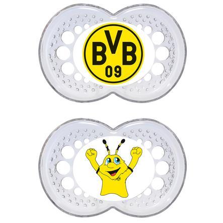 Zestaw smoczka BVB składający się z 2 sztuk.